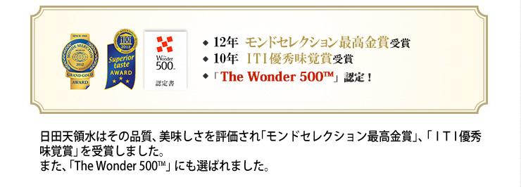 モンドセレクション最高金賞、iTQi(国際味覚審査機構、The Wonder 500